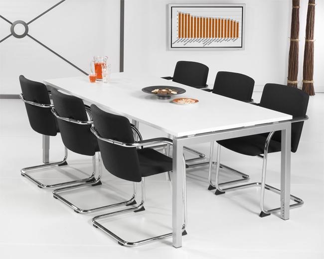 Qu201l table de bureau réunion quartet alu 200x100cm 2e hands