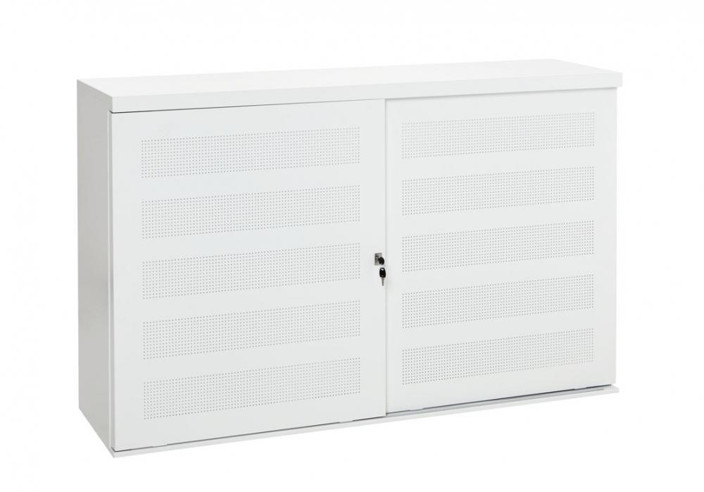 dsbe161ls armoire basse portes coulissantes perfor es 2e hands en nieuw kantoormeubilair. Black Bedroom Furniture Sets. Home Design Ideas